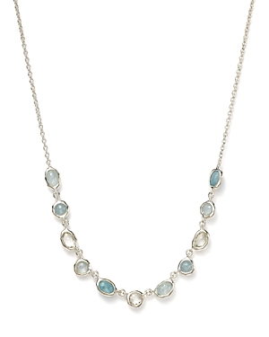 Ippolita Sterling Silver Rock Candy Semi-Precious Multi-Stone Doublet Necklace in Light Blue, 15