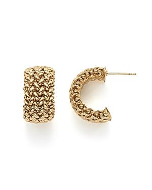 14K Yellow Gold Woven Hoop Earrings - 100% Exclusive