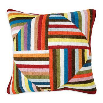 "Jonathan Adler - Multi Windmill Bargello Decorative Pillow, 20"" x 20"""