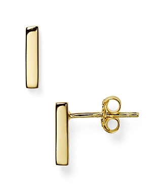Argento Vivo Straight Bar Stud Earrings