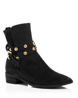 See By Chloe Janis Studded Strap Flat Booties