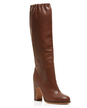 See by Chloé - Women's Jane Scalloped Tall Boots
