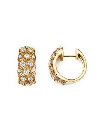 Bloomingdale's - Diamond Huggie Hoop Earrings in 14K Yellow Gold, .80 ct. t.w.- 100% Exclusive