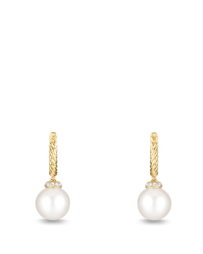 David Yurman Solari Hoop Earrings with Pearls and Diamonds in 18K Gold    Bloomingdale's