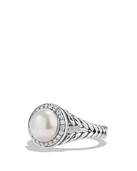 David Yurman - Albion Pearl Ring with Diamonds
