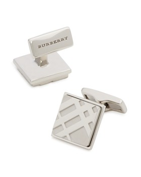 Burberry - Square Check Cufflinks