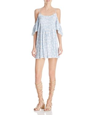 Olivaceous Cold Shoulder Mini Dress 1748911