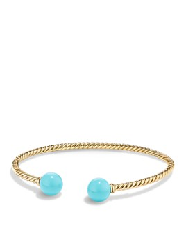 David Yurman - Solari Bead Bracelet with Turquoise in 18K Gold