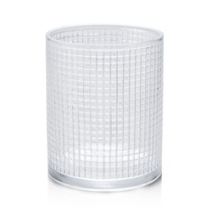 Waterworks Prism Glass Wastebasket
