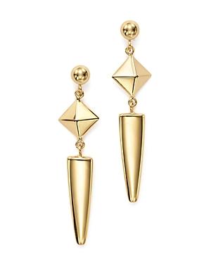 14K Yellow Gold Pyramid Arrow Drop Earrings - 100% Exclusive