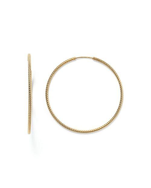 Bloomingdale's - 14K Yellow Gold Twisted Endless Hoop Earrings - 100% Exclusive