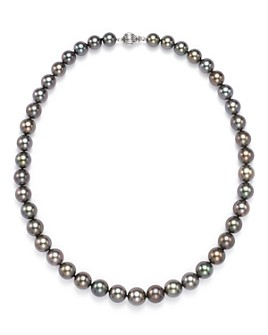 Tara Pearls - Natural Color Tahitian Cultured Pearl Strand Necklace, 17""