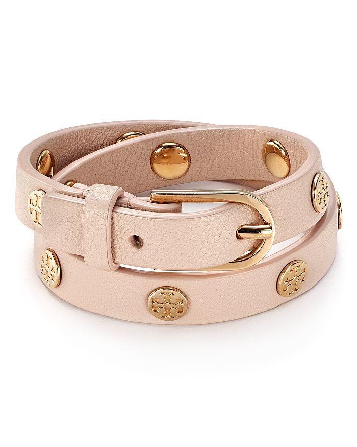 09e4b7f3ef65 Tory Burch - Double Wrap Logo Stud Bracelet