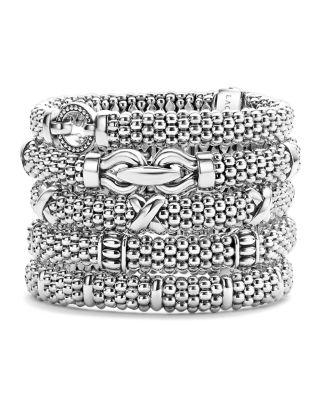 Sterling Silver Caviar Beaded Rope Bracelet