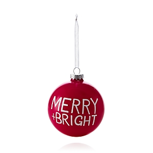 Bloomingdale's Merry + Bright Glass Ball Ornament - 100% Exclusive