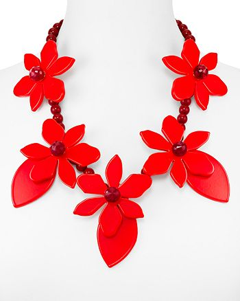 """kate spade new york - Lovely Lillies Statement Necklace, 22"""""""