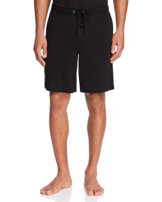 DANIEL BUCHLER Peruvian Pima Cotton Lounge Shorts in Black