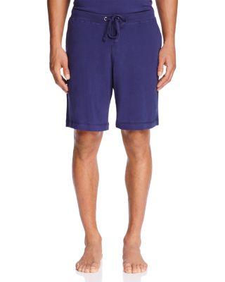 DANIEL BUCHLER Peruvian Pima Cotton Lounge Shorts in Navy