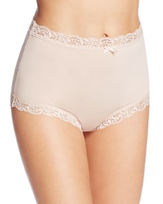 Fine Lines - Microfiber Scallop Lace Full Briefs