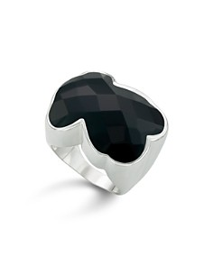 TOUS - Faceted Onyx Bear Ring
