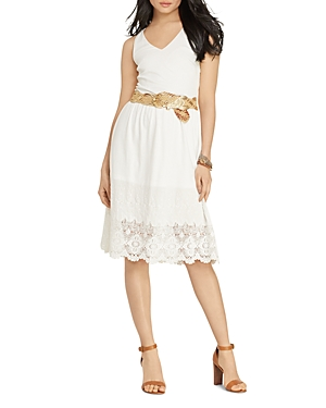 Lauren Ralph Lauren Petites Lace Hem Dress