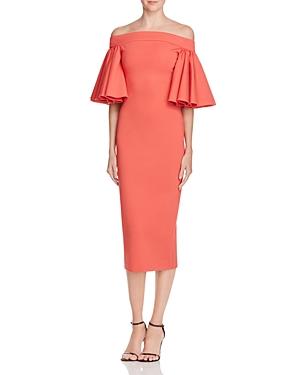 Aq/Aq Off-The-Shoulder Ruffle Midi Dress