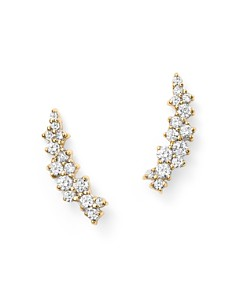 Bloomingdale's - Small Diamond Scatter Ear Climbers in 14K Yellow Gold, .30 ct. t.w.- 100% Exclusive