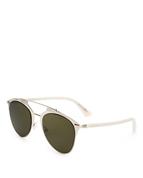 Dior - Women's Reflected Mirrored Brow Bar Aviator Sunglasses, 52mm