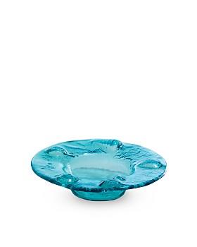 Annieglass - Ultramarine Wine Coaster/Candle Holder