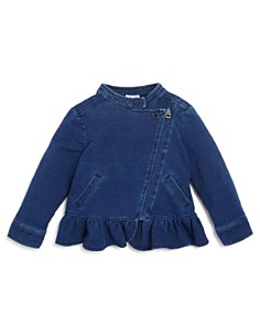 Splendid - Girls' Denim-Look Knit Jacket - Baby