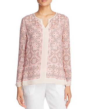 Nic+Zoe Batik Nights Geometric Print Top