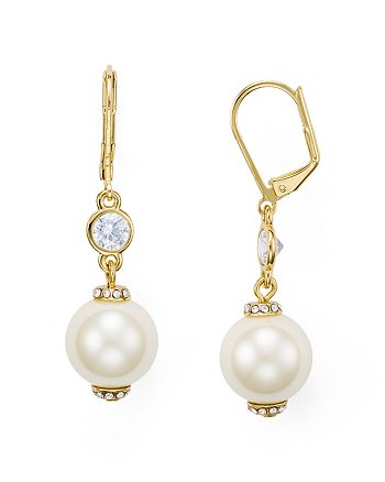 kate spade new york - Simulated Pearl Leverback Earrings