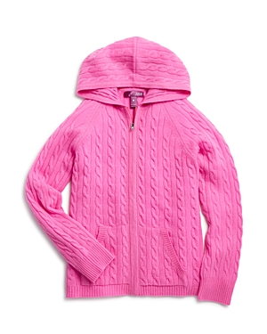 Aqua Girls' Cashmere Cableknit Hoodie, Sizes S-xl - 100% Exclusive