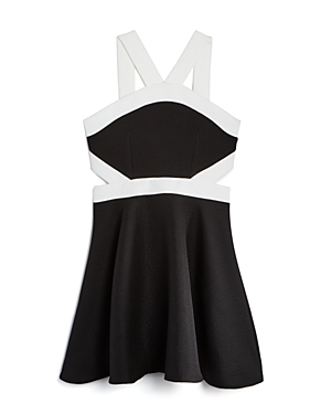 Miss Behave Girls' Two Tone Cutout Knit Dress - Sizes 8-14