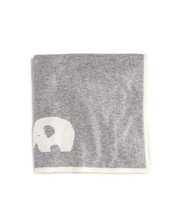 Bloomie's - Infant Boys' Cashmere Elephant Intarsia Blanket - One Size - 100% Exclusive