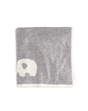 Bloomie's Infant Boys' Cashmere Elephant Intarsia Blanket - One Size - 100% Exclusive 1741440