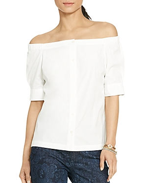 Lauren Ralph Lauren Petites Off-The-Shoulder Top