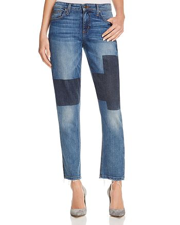 Joe's Jeans - Ex Lover Patchwork Cropped Straight Leg Jeans in Jenni