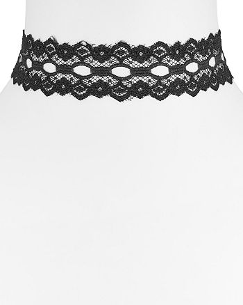 """Vanessa Mooney - Wide Lace Choker Necklace, 11.5"""""""