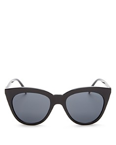 Le Specs - Women's Halfmoon Magic Cat Eye Sunglasses, 53mm