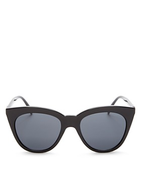Le Specs - Women's Halfmoon Magic Cat Eye Sunglasses, 53mm