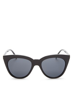 Le Specs Halfmoon Magic Cat Eye Sunglasses, 53mm