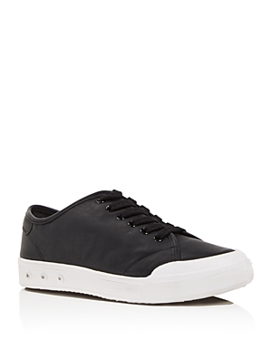 rag & bone Women's Standard Issue Leather Low Top Lace Up Sneakers