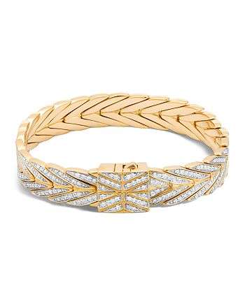 JOHN HARDY - 18K Yellow Gold Modern Chain Bracelet with Diamonds