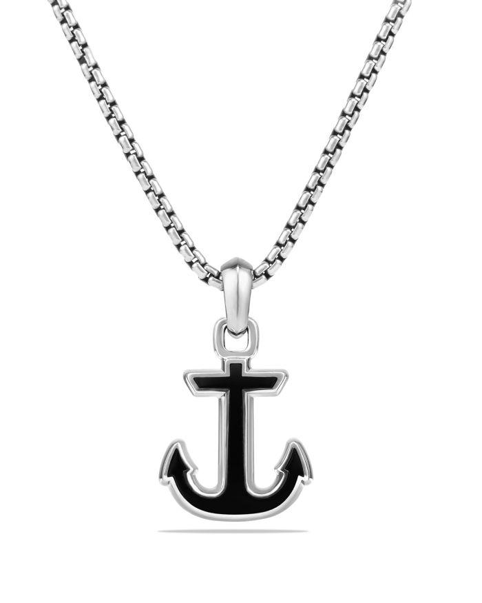David Yurman Maritime Anchor Amulet with Black Onyx  | Bloomingdale's