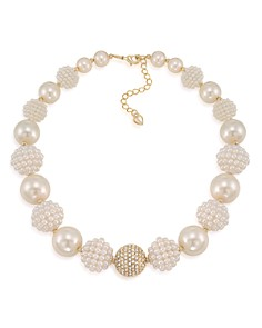"Carolee Simulated Pearl Beaded Collar Necklace, 16"" - Bloomingdale's_0"