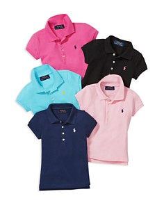 Ralph Lauren - Girls' Mesh Knit Polo - Little Kid