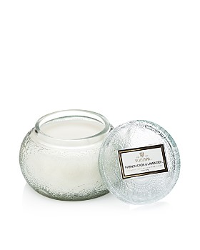 Voluspa - Japonica French Cade & Lavender Embossed Glass Chawan Bowl Candle