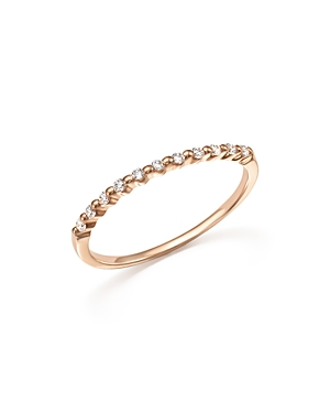 Diamond 11 Stone Stackable Band in 14K Rose Gold, .10 ct. t.w. - 100% Exclusive