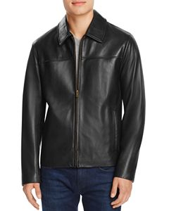 21d12755db81 Polo Ralph Lauren Maxwell Lambskin Leather Zip Jacket | Bloomingdale's
